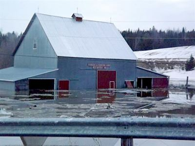 Flooded bran in Woodstock