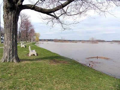 Inondation le long de Waterloo Row